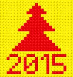 building kit of plastic 2015 z building kit of vector image