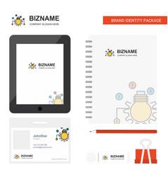 Bulb setting business logo tab app diary pvc vector