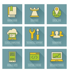 Business infographics icons Developmentt and vector image