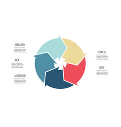 Business infographics pie chart with 5 parts vector