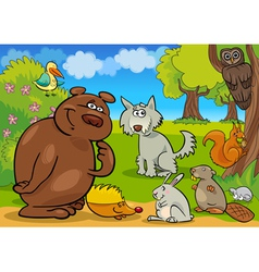 cartoon forest animals vector image