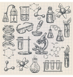 Chemistry Icon In Doodle Style vector image