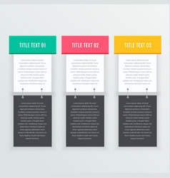 colorful infographics banners template vector image