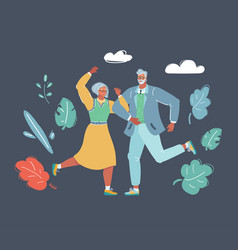 couple dancing swing vector image