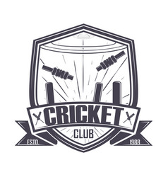 Cricket championship club vector