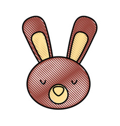 cute and tender rabbit vector image