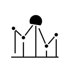 Dot plot black icon concept vector