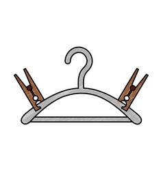 drying hook laundry icon vector image