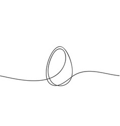 egg line art continuous one line drawing whole vector image