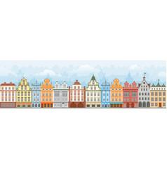 european cityscape seamless vector image