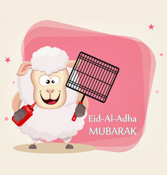 Festival of sacrifice eid al-adha traditional vector