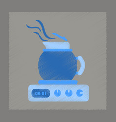 flat shading style icon coffee maker vector image