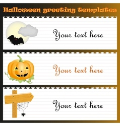 Halloween greeting templates with text vector image
