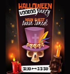 Halloween voodoo poster vector