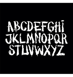 Hand drawn grunge font Detailed alphabet vector image