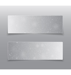 Horizontal Grey Rectangle Banners Snow Winter vector image