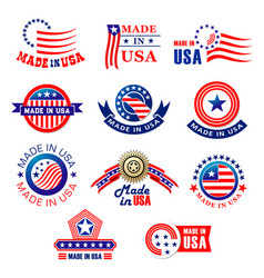 Icon bagdes made in usa vector