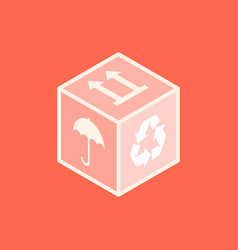 Isometric box icon vector