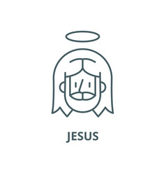 jesus line icon linear concept outline vector image