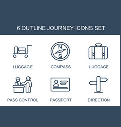 journey icons vector image
