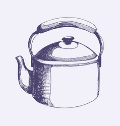 Kettle hand drawing for design vector