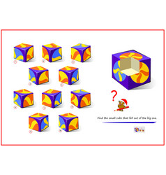 Logic puzzle game for smartest find small vector