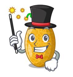 Magician tasty honeydew melon isolated on mascot vector