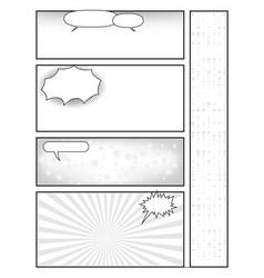 Manga style page layout storyboard layout vector