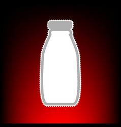 milk bottle style vector image