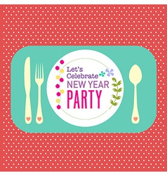 New year party greeting card background vector image
