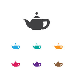 Of cook symbol on teapot icon vector