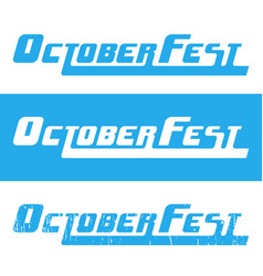 Oktoberfest beer festival header text vector