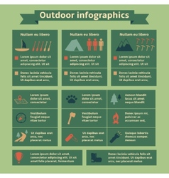 Outdoor Travel Infographic Elements vector image