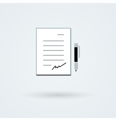 Paper with pen icon vector