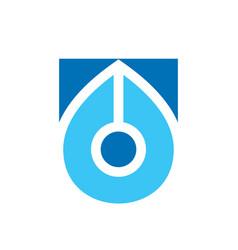 Pen logo template writer icon design nib simple vector