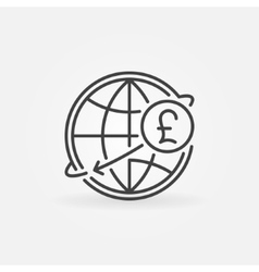 Pound international money transfer icon vector image