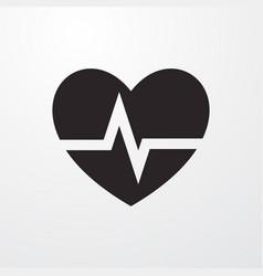 Pulse icon vector