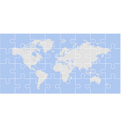 puzzle world map vector image