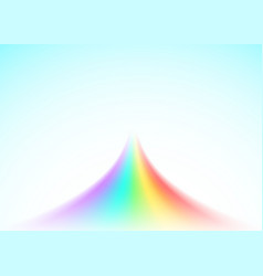Rainbow road isolated on light blue background vector