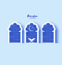 Ramadan kareem greeting card with symbol islam vector