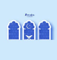 Ramadan kareem greeting card with symbol islam vector