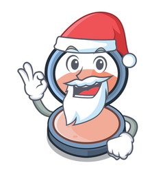 Santa blush is isolated with cartoons vector