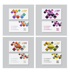Set of creative and clean business card template vector