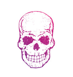 skull with gradient on white t-shirt print with vector image