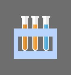 Test tubes set icon medical glassware concept vector