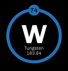 Tungsten chemical element vector