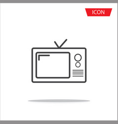 tv icon in trendy flat style television symbol vector image