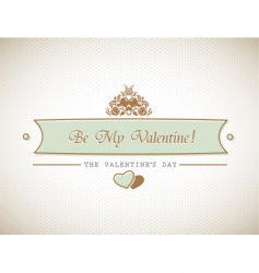 valentines sign vector image