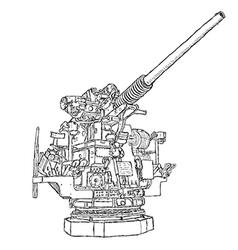 Vintage gun vector