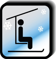 Winter icon lift vector image